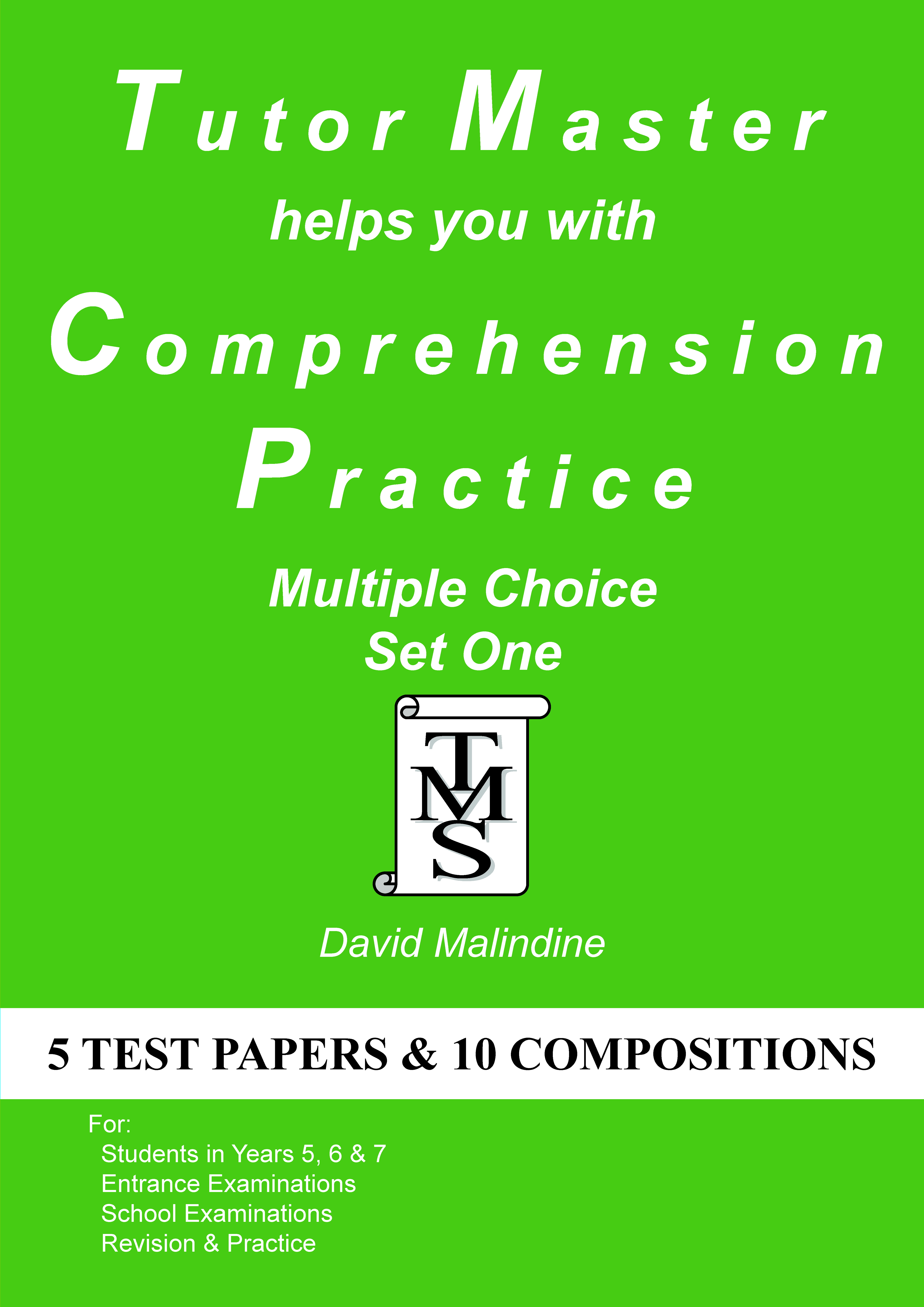 The  cover of Tutor Master helps you with Comprehension Practice - Multiple Choice Set One