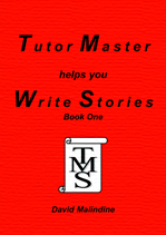 The red cover of Tutor Master helps you Write Stories Book One