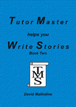 The blue cover of Tutor Master helps you Write Stories Book Two